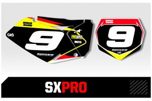 Suzuki Custom Printed Motocross Backgrounds - SXPRO Series