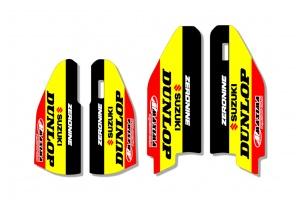 Suzuki Lower Fork Decal - Core Yellow / Black