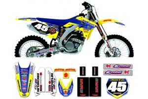 Suzuki Race Team Graphic Kit - Fork Rent