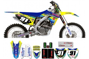 Suzuki Race Team Graphic Kit - MVRD 10 Blue / Blue