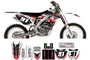 Suzuki Race Team Graphic Kit - MVRD 10 White / Black