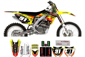 Suzuki Race Team Graphic Kit - MVRD 10 Yellow / Black