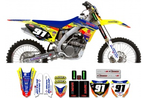 Suzuki Race Team Graphic Kit - MVRD 10 Yellow / Blue