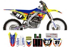 Suzuki Race Team Graphic Kit - MVRD 10 Yellow / Blue