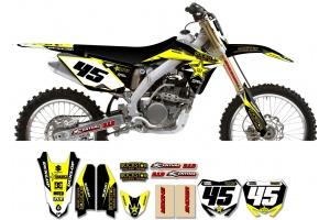 Suzuki Rockstar Graphic Kit  - Factory Black / Yellow 11