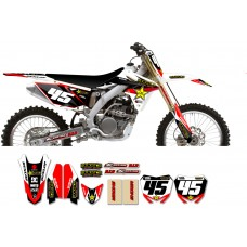 Suzuki Rockstar Graphic Kit  - Factory White / Black 11