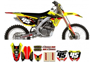 Suzuki Rockstar Graphic Kit  - Factory Yellow / Black 11