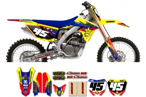Suzuki Rockstar Graphic Kit  - Factory Yellow / Blue 11
