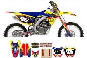 Suzuki Rockstar Graphic Kit  - Factory Yellow / Blue 11