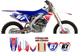Suzuki Zeronine Graphic Kit - Targa2 White / Blue / Red