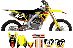 Suzuki Zeronine Graphic Kit - Targa2 Yellow / Black