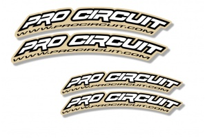 Universal Curved Fender Decal - Pro Circuit -White
