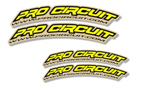 Universal Curved Fender Decal - Pro Circuit -Yellow