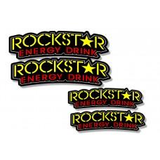 Universal Curved Fender Decal - Rockstar