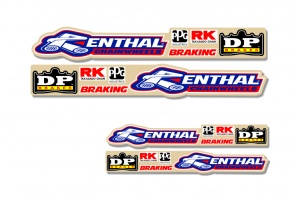 Universal Swing Arm Decal - Renthal / DP Brakes