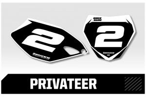 Yamaha Custom Printed Motocross Backgrounds - Privateer  Series