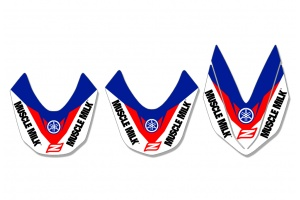 Yamaha Front Fender Decal - Core White / Blue