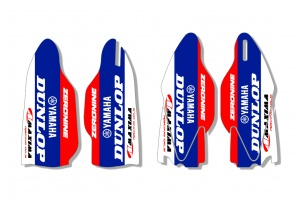Yamaha Lower Fork Decal - Core White / Blue