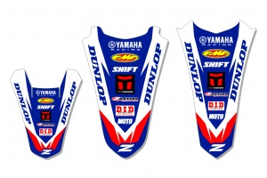 Yamaha Rear Fender Decal - Core White / Blue
