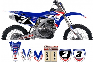 Yamaha Zeronine Graphic Kit - Targa2 Blue / Red